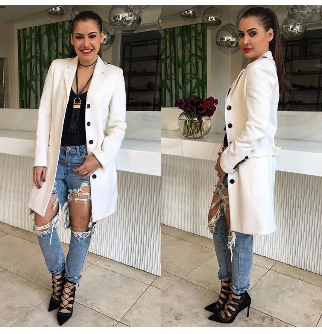The gorgeous #ShashiNaidoo in her #OneTeaspoon jeans from #Nicci