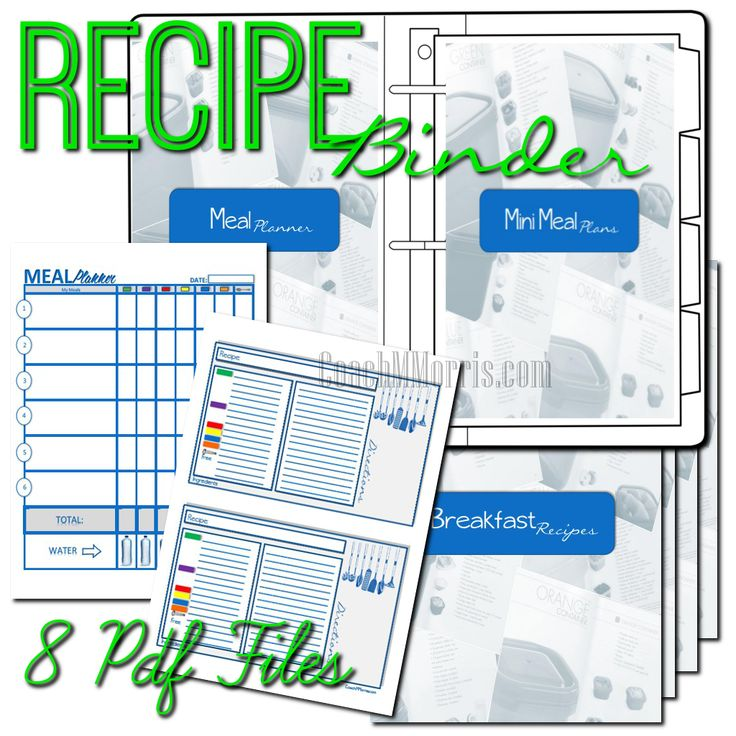 21 Day Fix Meal Plan, Planner, Meal Tracker, Worksheets