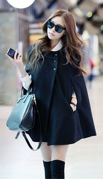 Stylish Woolen Blend Cloak   dresslily.com