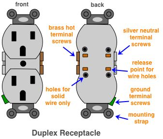 diagram of a duplex receptacle Duplex, Switch, Electricity