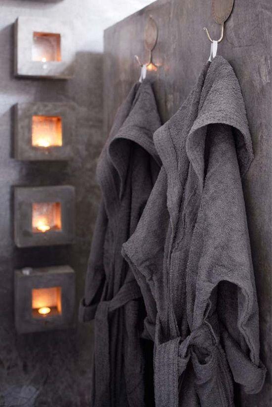 Inspiratie beeld betonlook!! leuk die nisjes. Interesse in betonlook, betoncire, mortex, tadelakt wanden, vloeren, meubels?  www.molitli.nl of www.betonlookdesign.nl