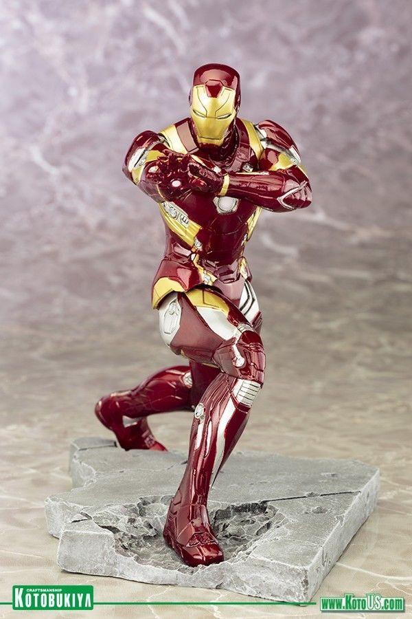 Kotobukiya Marvel Captain America Civil War Iron Man Mark 46 ArtFX+ Statue  | eBay