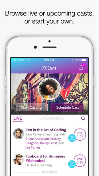ZCast - Live. Audio. Groupcasting. by Zula, Inc.