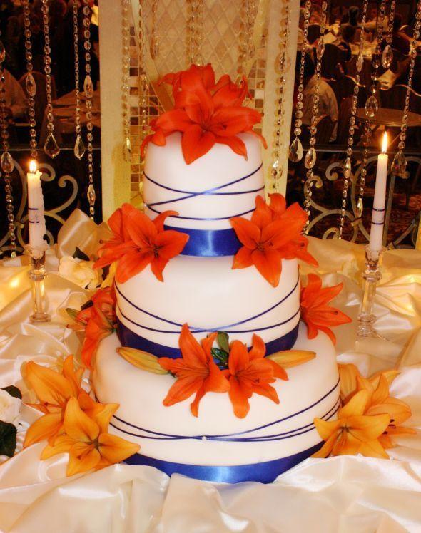 Top Best Orange Wedding Cakes Ideas On