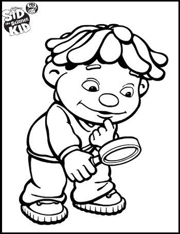 sid the science kid doing observation coloring pages | Top Sid the ...