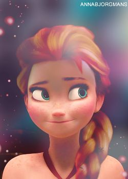 Anna with Elsa's hairstyle<----this looks pretty cool. Elsa, on the other hand...