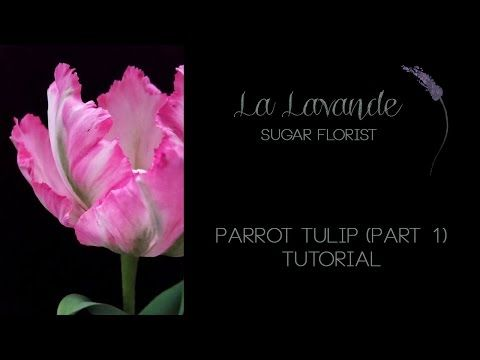 How to make Gumpaste Parrot Tulip Tutorial Part 1 - YouTube