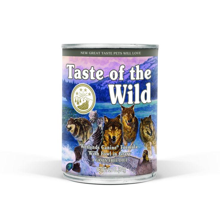 TASTE OF THE WILD GRAIN FREE MOIST DOG FOOD - WETLANDS 374G CANS