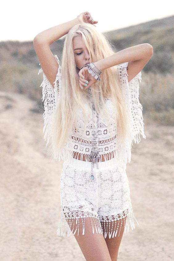 @roressclothes closet ideas #women fashion outfit #clothing style apparel white Crochet Summer Look via