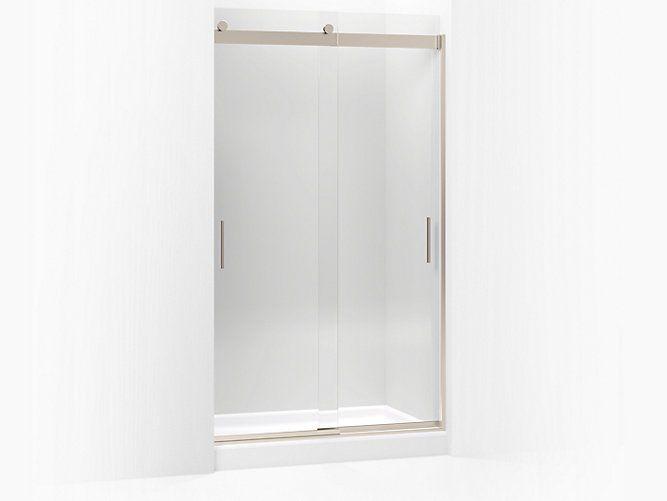 Levity Frameless Sliding Shower Door | K-706011-L | KOHLER