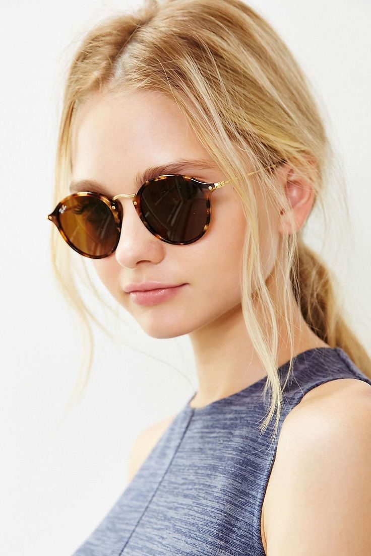 bce927970 Ray-Ban Icon 2447 Round Sunglasses in flech finish with ultra thin metal  arms | EyeWearThese | #rayban #sunglasses #fashion #style