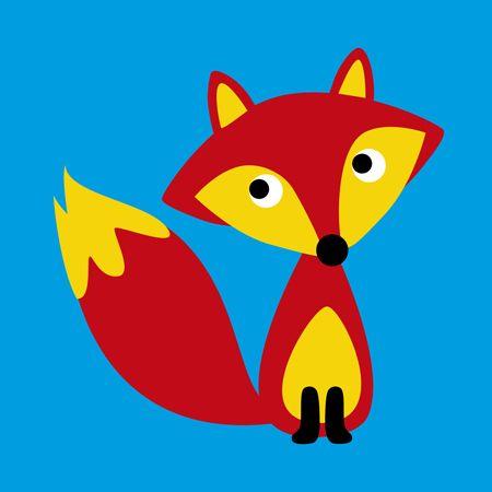 Mr Fox card on blue