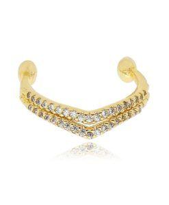 piercing pressão folheado a ouro com zirconias cristais semi joias da moda coleção 2017
