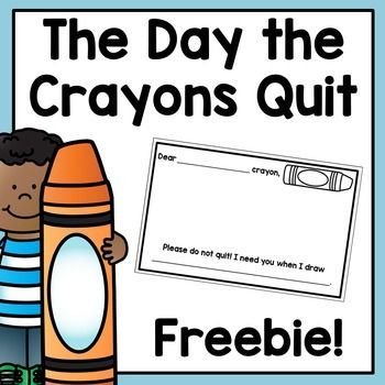 FREEBIE: The Day the Crayons Quit Mini Response
