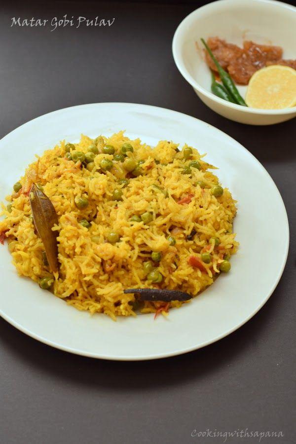 Cookingwithsapana: Matar Gobi Pulav