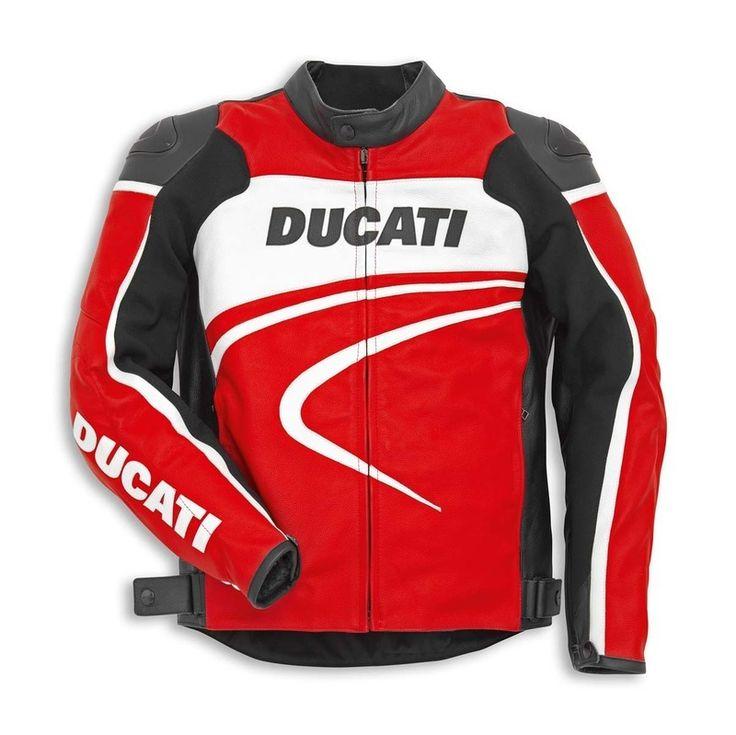 DUCATI MOTORCYCLE RED JACKETS, DUCATI MOTORBIKE JACKETS, DUCATI JACKETS