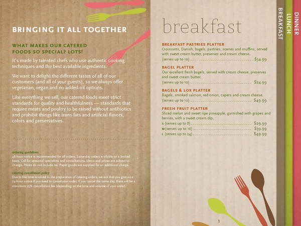 Whole Foods Market Catering Menu Concepts on Behance