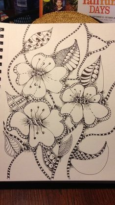 How to draw Paisley Flower 10 by *Quaddles-Roost...