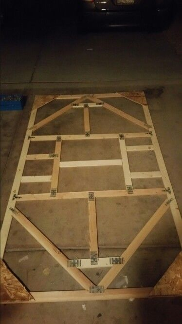 Large projector screen frame