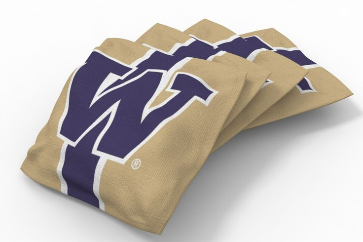 Washington Huskies Stripe Bean Bags-4pk (B)