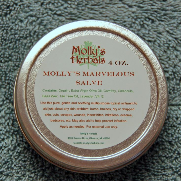 This salve could be used for just about anything to do with the skin: burns, bruises, scars, dry or chapped skin & lips, cuts, scrapes, wounds, ga | Molly's Herbals