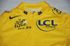 NIKE LE TOUR DE FRANCE 2010 YELLOW CYCLING JERSEY LCL BANQUE BOYS GIRLS WOMENS