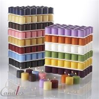 288 white unscented 10 hr votive candles for $50.00 that's a little over 17 cents a piece! best value for candles I've found