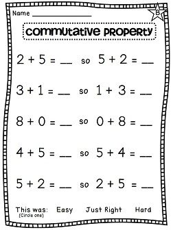 Printables Commutative Property Of Addition Worksheets 3rd Grade 1000 ideas about commutative property on pinterest teaching of addition differentiated worksheets