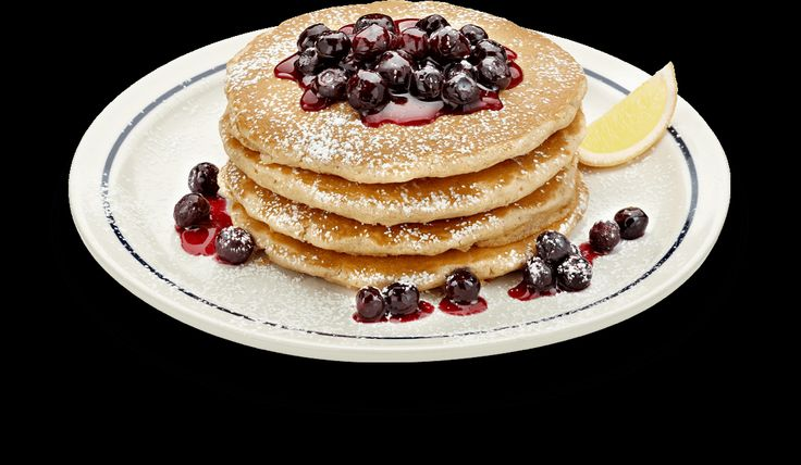 It's hard to believe the new SIMPLE & FIT Whole Wheat Pancakes with Blueberries @IHOP are under 600 calories! #IHOP