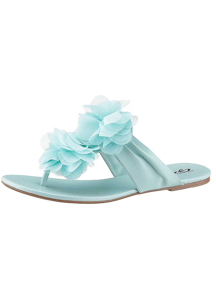 City Walk Mint Toe-Post Sandals