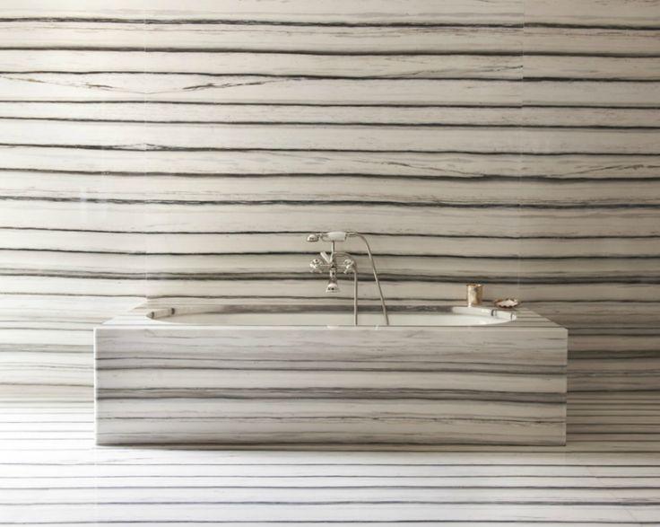 Peter Marino Architect - stone walls, floor, bathtub