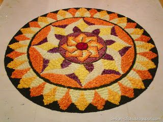 Beautiful pookalam for onam festival