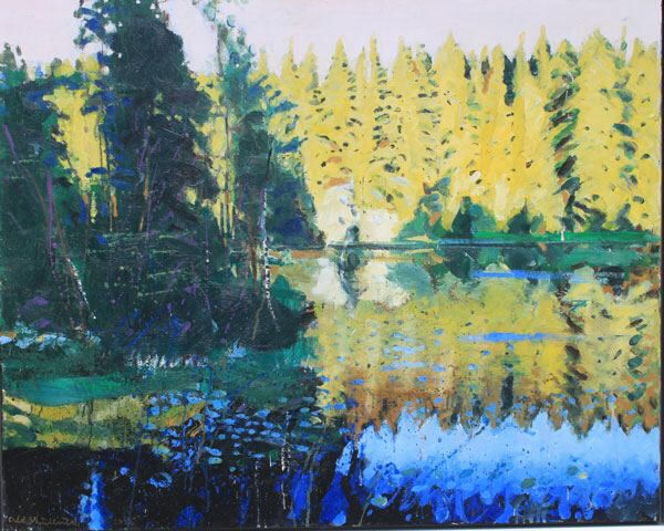 Bilde fra http://www.elverumkunstgalleri.no/users/elverumkunstgalleri_mystore_no/images/08906_Odd_Skullerud_Et_vann_i_en_skog_II_av_Odd_Sk_1.jpg.