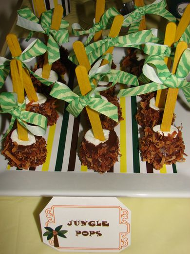 """Photo 9 of 11: Jungle Safari / Baby Shower/Sip & See """"Jungle Baby Shower""""   Catch My Party"""