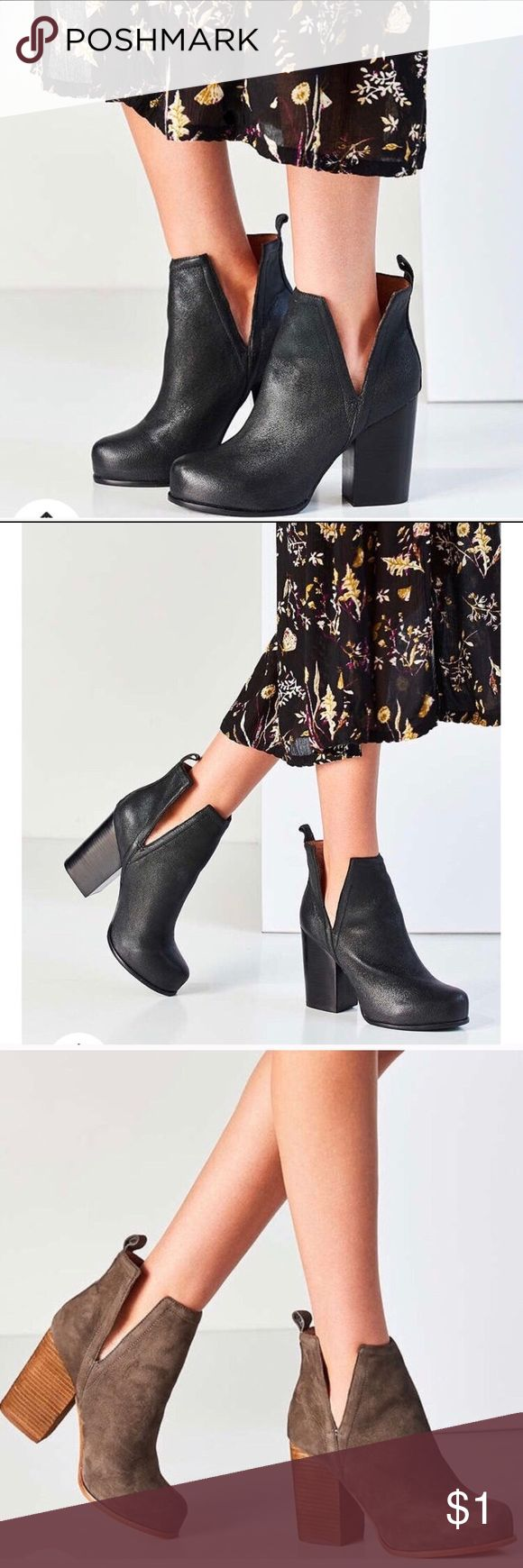 ISO Jeffrey Campbell Oshea I'm looking for these in either a 7.5, 8, or 8.5 in the black or brown color. Does anyone have a pair they are willing to part with?! Thank you! Jeffrey Campbell Shoes Ankle Boots & Booties