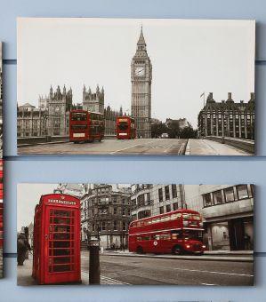 El Big Ben, los buses de dos pisos, las cabinas telefónicas son sólo algunos de los íconos más reconocibles de Londres. ¡Ahora puedes tenerlos en tu pared! Busca estos cuadros y más decoración #UK en nuestro catálogo #Easy.  #London #Deco #Vintage #EasyTienda #TiendaEasy