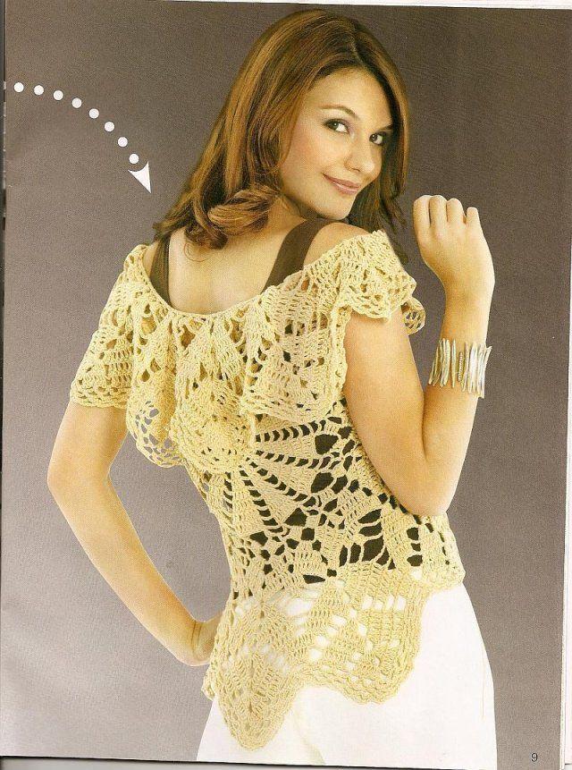 Hermosa Patrón De Crochet Encogimiento De Hombros Ideas - Manta de ...