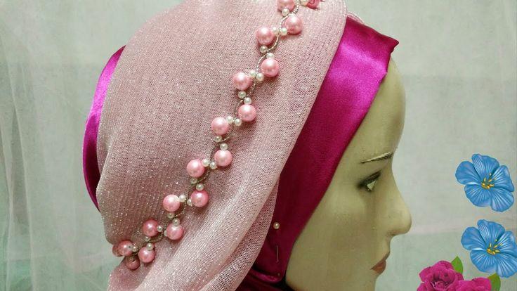 beads pearl: cara membuat hijab crown
