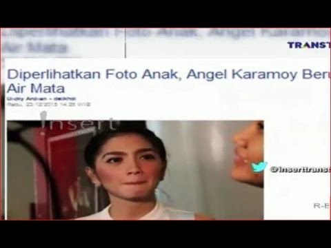 Angel karamoy beruai air mata saat di perlihatkan foto ke 2 anaknya gosi...