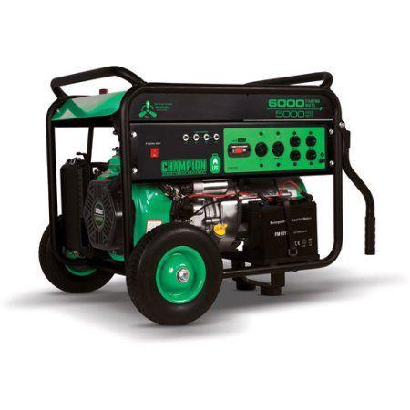 Champion Power Equipment 5000/6000 Watt Electric Start Portable LPG Generator, Multicolor