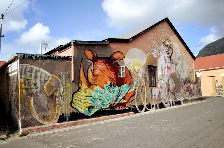 Street Art by Cern - Binho // Woodstock, Cape Town. Photography by Carole Moreau | via Street Art in Cape Town