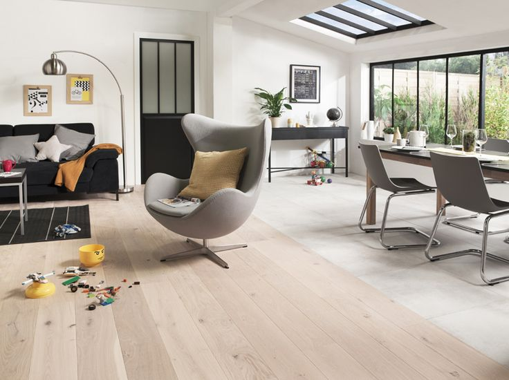 25 best carrelage effet parquet ideas on pinterest Carrelage salon