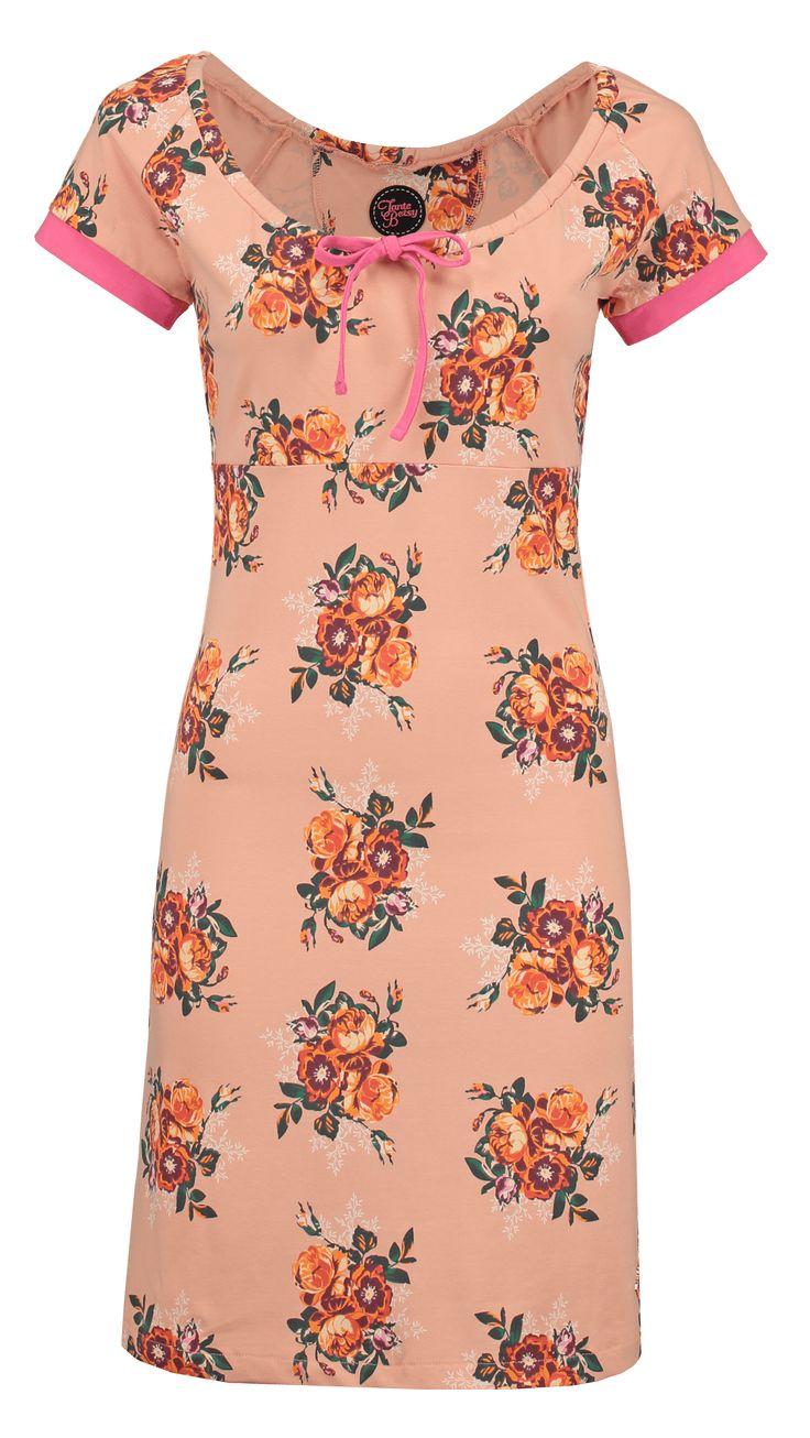 Tante Betsy dress carmen les fleurs orange floral print bloemenprint oranje