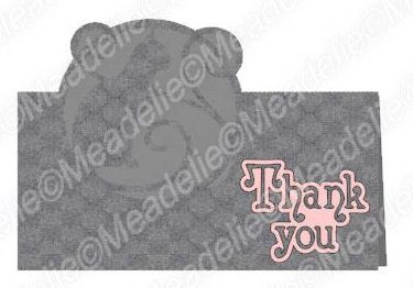 Pop-up cat / thank you Card.  Cutfile for sale available in several formats