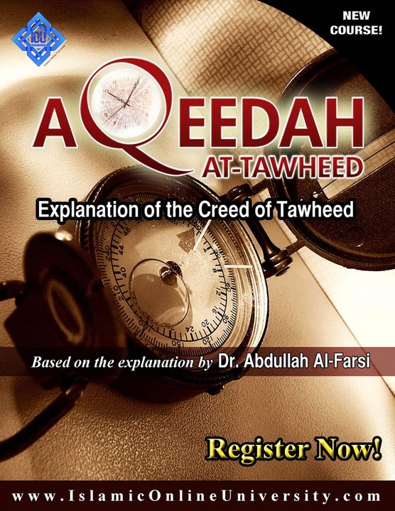 This course covers all the essential principles of Aqeedah that a Muslim is required to know and practice - from the categories of Tawheed to what negates and defies it, like Shirk, Kufr, Nifaq, Fisq, Riddah and Bidah.    The book has been explained by Dr. Abdullah Al-Farsi (hafidhahullah), who has included in his explanation references from Major scholars of the past and present, and clarifications on contemporary misunderstandings.  Enroll now  http://www.fanarinstitute.com/