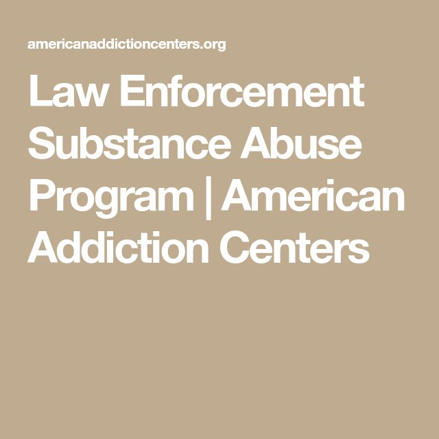 Law Enforcement Substance Abuse Program | American Addiction Centers