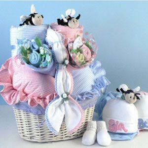 """Babies In Bloom"" Twins Baby Gift Basket"