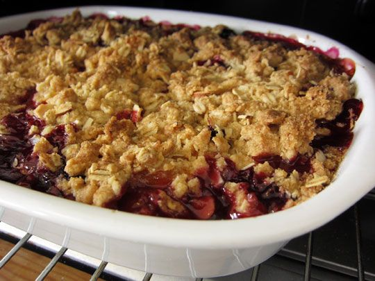 Blueberry and Apricot Crumble | Recipe