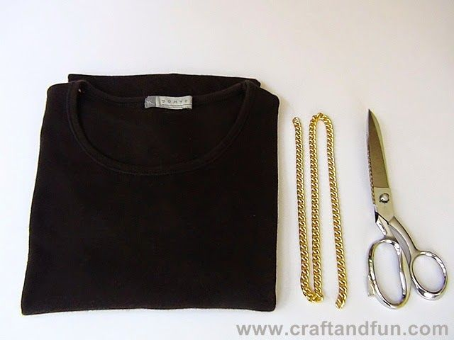 Riciclo Creativo - Craft and Fun: Tutorial: Collana fatta con T-shirt Riciclate