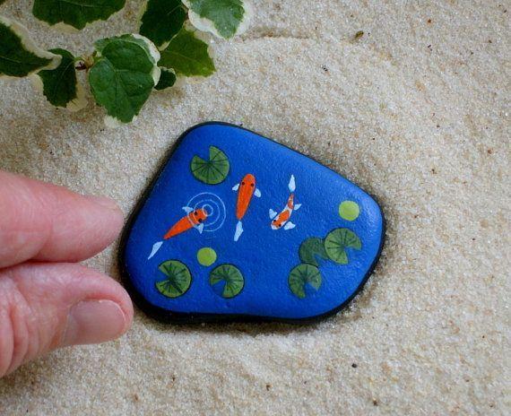 Koi fish pond miniature garden art for fairies moss for Miniature koi fish